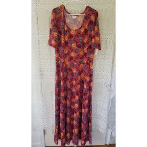 Lularoe Ana Maxi Dress Short Sleeves Size 3XL NWT